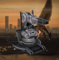 Mounted Gun from Mass Effect 3 for XNALara by Melllin