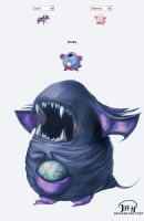 Zubat + Chansey = Zusey by aupin