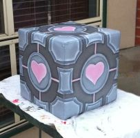 Portal - Companion Cube Prop by tourmalinedesign