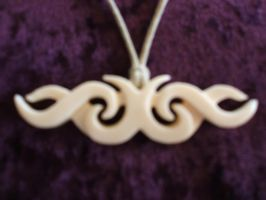 Tribal Koru Bone Carving by 2meke