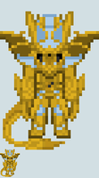 Chibi Rider sprite - Wizard (Gold Infinity Dragon) by Malunis
