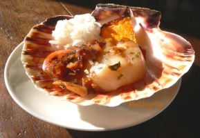 Scallops' fricassee by Melhyria