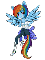 Chibi Rainbow Dash by ninetail-fox