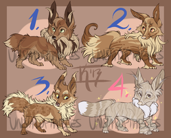 Eeveelution Special Auction CLOSED!!! by Unstadoptables