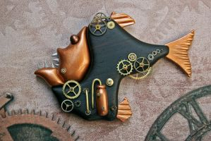 Steampunk Hatchetfish by FauxHead