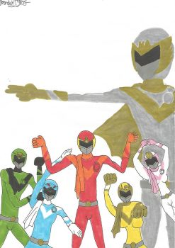Power Rangers: Sun Vulcan (by Drenduh Tyrof) by MadRedX12