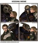 Kissing meme - Garrus and Danielle by Sorceress-Nadira