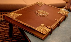 Old leather book locked closed by barefootliam-stock