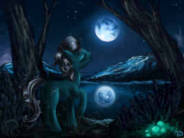 Under the light of the moon by DaffyDream
