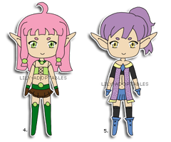 Adoptables 4,5 Elfgirls OPEN by lily-adoptables