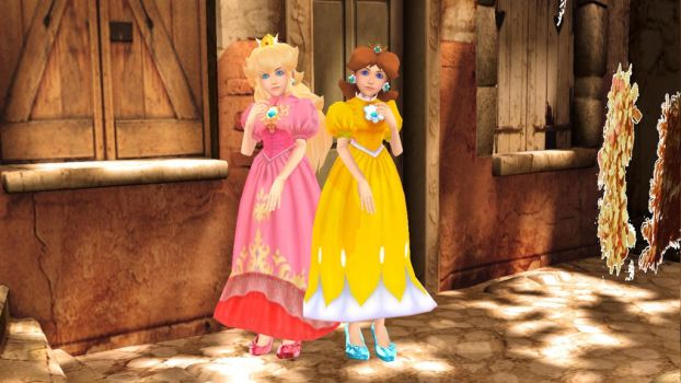 MMD Request KH Daisy and Peach by dianita98