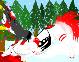 Sparrow and Sarka Outdoor Christmas by SparrowIllustrations