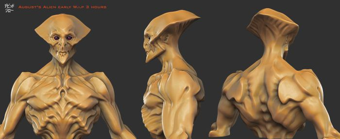 August's Alien concept by mojette