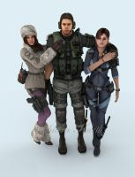 Jessica, Chris and Jill by mk-re55