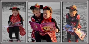 Minnie Mouse Triptych by MayEbony