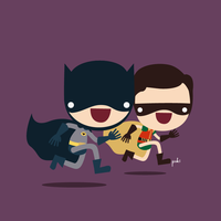 Batman and Robin The Boy Wonder by StepPuki