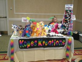 Big Apple PonyCon 2013 - Kopes Kreations Stand by DestinyDecade