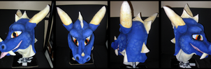 Blue Dragon Mask by Tsebresos
