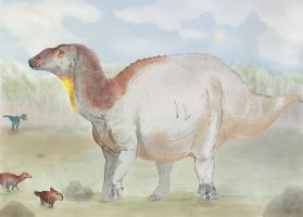 Edmontosaurus cow by Dannyp96