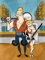 The rednecks by kungfumonkey