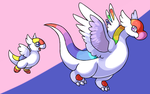Wyvet and Draybow by fuzzball288