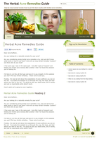 acne herbal website by ahsanpervaiz