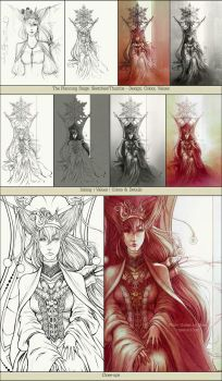 The Making: White Queen by ciaee