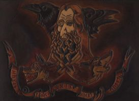Odin with his fellows by Wodenswolf