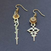Steampunk Clock Hand Earrings by Tanith-Rohe