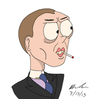 Steve Buscemi Caricature by GoldenEraFan