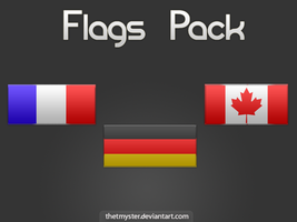 Flag Pack, Including PSD by thetmyster