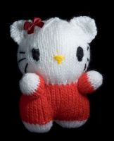 Hello Kitty plushie by foxymitts