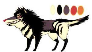 Wolf demon adoptable CLOSED by Insol