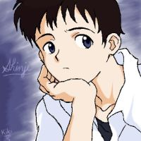 Pondering Shinji by ebonycalypso