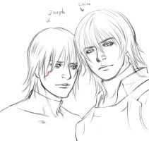 Caim and Joseph by realEVE