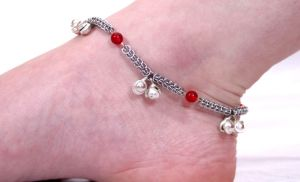Red Persian Anklet by chainmaille