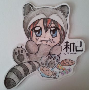Kazuki the greedy raccoon by Mika-loves-Kai