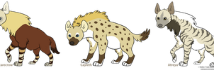 My hyenas by Cayleth