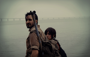 Joel and Ellie   The Last of Us by a-nouki