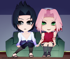 Sasusaku Date Night by talachan