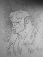 Hellboy sketch ECCC13 by RyanOttley