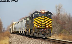 Nickel Plate heritage 8100 leads 301 Mt. Olive IL by EternalFlame1891