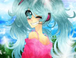Hatsune Miku - Hills of Heaven by Nadi-Chan