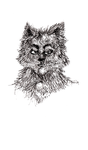 Small Wolf Man Now Available on my Society6 Shop! by arielniweihuang