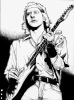 Mark Knopfler INK Comic Book Style by Yankeestyle94