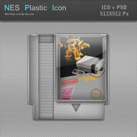 NES Plastic Cartridge Icon by blinkybill