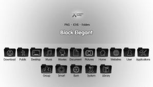 Black Elegant - Icon Set by wurstgott