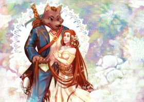 Aryvejd and Wolf wedding by Ripushko