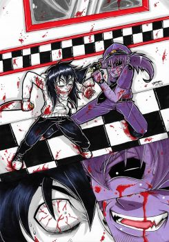 Purple Guy Vs Jeff The Killer! (Coloured.) :3 by ShannonxNaruto