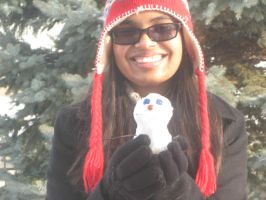 Baby Snowman and I by InsaneUndertaker